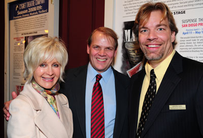 Jason Heil (right) with Judith Harris and Bill Schmidt