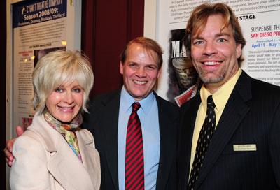 Jason Heil (right) with Judith Harris and Bill Schmidt