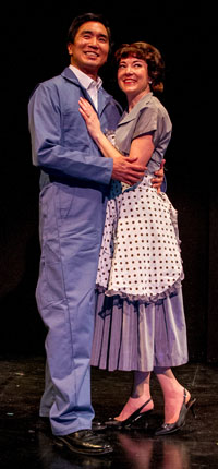 Greg Watanabe & Jo Anne Glover in Maple and Vine. Photo by Daren Scott