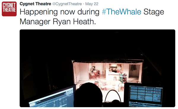 The Whale Stage Tweet