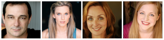 Gypsy cast members: Manny Fernandes, Allison Spratt-Pearce, Linda Libby, Katie Whalley-Banville