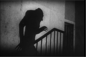 A still from Nosferatu, eine Symphonie des Grauens, a 1922 German Expressionist horror film directed by F.W.Murnau.