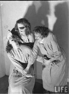 """Crime in a Madhouse"" photograph by Hans Wilder, 1947."